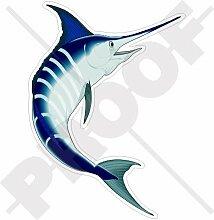 Blue Marlin Schwertfisch-Aufkleber, 193cm, Vinyl, Auto-Aufkleber