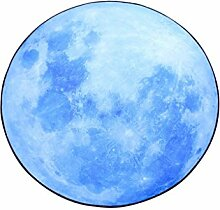 Blue Moon Runde Matratze Bedside Anti-Roll Decke Badezimmer Wohnzimmer / Studie / Sofa Teppich ( größe : 120*120cm )