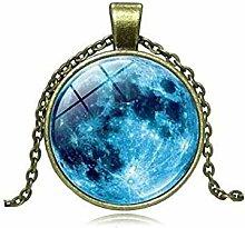 Blue Planet Nebel Universum Statement Halskette