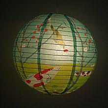 Blue Q - Design Papierlampe Lampenschirm Hängelampe - Koi Garden