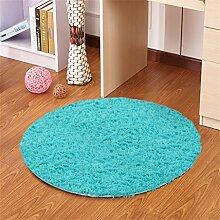 Blue Round Simple Teppich Wohnzimmer Schlafzimmer Study Hanging Stühle Computer Drehstuhl Matratze Mat ( größe : 120CM )