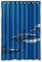 """Blue Sea und Delphine Wasserdicht Polyester Stoff Vorhang für die Dusche Badezimmer Deko 121,9x 182,9cm (120x 183cm), Polyester, A, 48"""""""" x 72"""