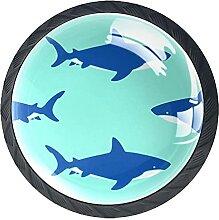 Blue SharkSchrankknöpfe Schubladengriffe