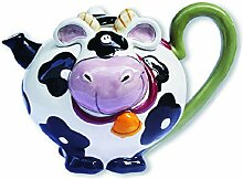 Blue Sky Ceramics Ceramic Cow Teapot Blue Sky