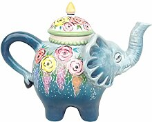 Blue Sky Ceramics Ceramic Elephant Teapot Blue Sky