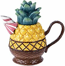 Blue Sky Ceramics Ceramic Pineapple Teapot Blue