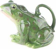 Blue Sky Ceramics Teekanne Frosch, Grün