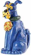 Blue Sky Ceramics Zappy Doggy Teekanne, Blau