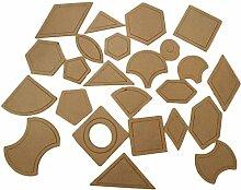 Blue Vessel 1 Satz 54 pcs Gemischte Acrylsteppdecke Schablonen DIY Werkzeuge für Patchwork