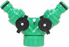 Blue Vessel Garden Hose Rohr Splitter 2 Weg Stecker y Adapter Hahn Quick Turn Off Tool