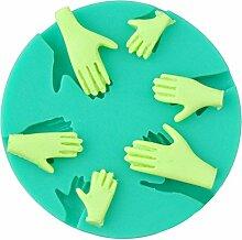 Blue Vessel Neue Menschliche Hand Fondant-Kuchen-Silikon-Form Fimo DIY Mold Werkzeuge