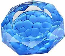 Blue Water Cube Kristallaschenbecher Polygon Aschenbecher Heim und B?ro-Dekor