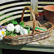 Bluebell Yard Gartenkorb, oval, Weide, mittelgroß