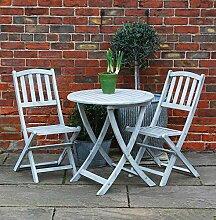 Bluebell Yard Runswick Bistrotisch mit 2 Stühlen,
