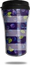 Blueberry Pattern Design Pattern Glas Kaffeebecher