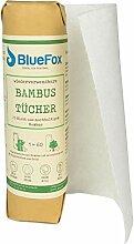 BlueFox Küchenrolle aus 100% Bambus, saugstarke,