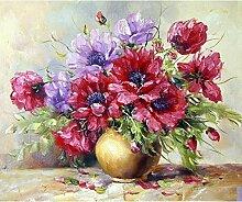 Blühen Blumen Diamant Malerei 5D DIY Voll Vase