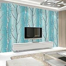 Blühende Wand: 3d Birkenbaum WandTapete, Home Decor Wallpaper , 2