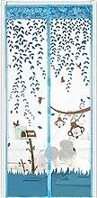 Bluelans® Magnet Fliegengitter Tür Insektenschutz 90x210 cm / 100x220 cm, Der Magnetvorhang ist Ideal für die Balkontür, Kellertür, Terrassentür, Kinderleichte Klebemontage Ganz Ohne Bohren (90x210 CM, Blau)
