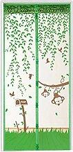 Bluelans® Magnet Fliegengitter Tür Insektenschutz 90x210 cm / 100x220 cm, Der Magnetvorhang ist Ideal für die Balkontür, Kellertür, Terrassentür, Kinderleichte Klebemontage Ganz Ohne Bohren (90x210 CM, Grün)