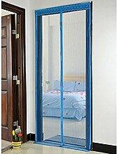 Bluelans® Magnet Fliegengitter Tür Insektenschutz 90x210 cm, Der Magnetvorhang ist Ideal für die Balkontür, Kellertür, Terrassentür, Kinderleichte Klebemontage Ganz Ohne Bohren (Blau)