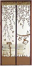 Bluelans® Magnet Fliegengitter Tür Insektenschutz 90x210 cm / 100x220 cm, Der Magnetvorhang ist Ideal für die Balkontür, Kellertür, Terrassentür, Kinderleichte Klebemontage Ganz Ohne Bohren (100x 220 CM, Braun)