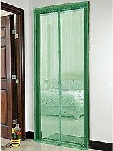Bluelans® Magnet Fliegengitter Tür Insektenschutz 90x210 cm, Der Magnetvorhang ist Ideal für die Balkontür, Kellertür, Terrassentür, Kinderleichte Klebemontage Ganz Ohne Bohren (Grün)