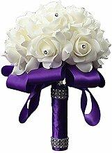 Bluelans® Rosen Brautstrauß Blumenstrauß