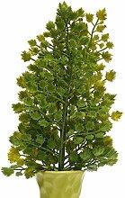 Bluelover 1 Blumenstrauß Künstliche Grün Farn Busch Pflanze Blätter Blume Arrangment Floralen Handwerk Hauptdekor-#1