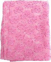 Bluelover 100 * 210Cm Floral Bedruckte Voile Tüll Fenster Vorhang Schiere Blumenfenster Bildschirm - Rosa