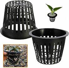 Bluelover 10Pcs Schwarz Kunststoff Hydrokultur Pflanzen Mesh Netz Topf Körbe Garten Pflanze Wachsen Cup