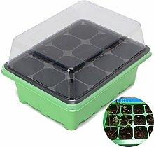 Bluelover 12 Löcher Pflanzensamen Wachsen Box Samen Sprießen Fach Garten-Werkzeuge