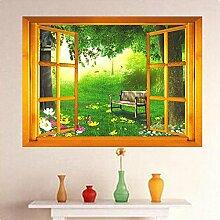 Bluelover 3D Fenster Ansicht Abnehmbare Wand Aufkleber Kunst Aufkleber Wandbild Home Decor