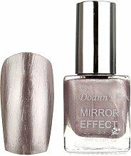Bluelover 5 Farben 10Ml Metallic Spiegel Spiegel Effekt Silber Silber Nagel Kunst Polnisch Lack -Pink