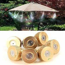 Bluelover 5Pcs 3/16 Zoll Messing Zerstäubung Spray Düsen Garten Kühlung Beschlagen Sprinkler-0,15 Mm