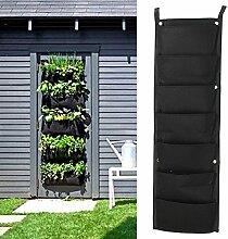Bluelover 7 Tasche Indoor Outdoor-Wandbehang Pflanzer Taschen Pflanze wachsen Taschen