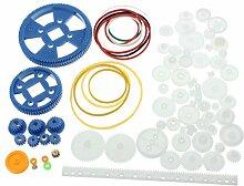 Bluelover 80Pcs Plastik Diy Roboter-Zahnrad-Satz-Zahnrad-Motor-Zahnrad-Satz Für Diy Auto-Roboter