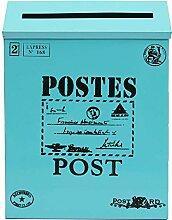 Bluelover Antik Vintage Eisen Blatt Postfach