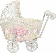 Bluelover Blume Korb Wicker Kinderwagen Korb Baby