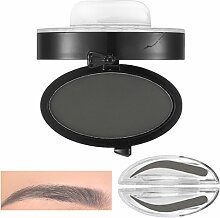 Bluelover Brauen Stempel Pulver Grau Braun Makeup Augenbraue Gel Seal Wasserdichte Augen Kosmetik Schwarz Kopf Pinsel Werkzeuge # 01