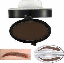 Bluelover Brauen Stempel Pulver Grau Braun Makeup Augenbraue Gel Seal Wasserdichte Augen Kosmetik Schwarz Kopf Pinsel Werkzeuge # 02