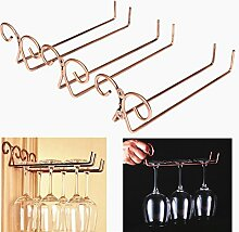 Bluelover Bronze Edelstahl Seite Stand Weinglas Hanger Rack Glas Halter Tassenablage
