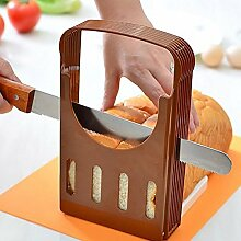 Bluelover Brot Cut Laib Toast Hobel Cutter Slicing Führer Küchenwerkzeug