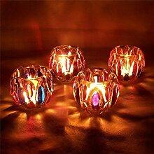 Bluelover Bunte Glas Kerze Halter Kandelaber