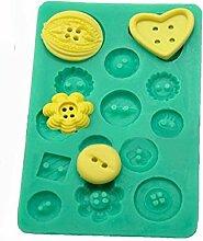 Bluelover Button Silikon Schimmel Kuchen Dekoration Schimmel Fondant Kuchenpresswerkzeuge