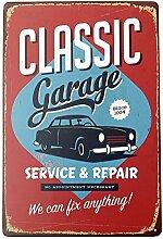 Bluelover Classic Garage Tin Sign Vintage Metall Plaque Poster Bar Pub Home-Wand-Dekor