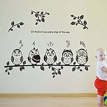 Bluelover Eule-Vögel-Kindergarten-Kinder-Zimmer-Haus Dekoration Diy Wandtattoo