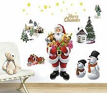 Bluelover Frohe Weihnachten Wandsticker Diy Weihnachtsbaum Fenster Wand Dekor Happy New Year