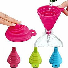 Bluelover Füllflüssigkeit Silikon Collapsible Mini Wasser Öl Red Funnel Kitchen Tools