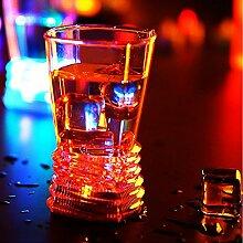 Bluelover Induktiven Led Wein Tasse Glas Bar Disco Whisky Bier Bunte Nacht Licht Tasse